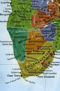 Crop of a Nat Geo Map of South Africa Area